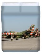 Line-up Of Hellenic Air Force T-2 Duvet Cover