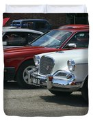 A Line Up Of Vintage Cars Duvet Cover