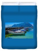 Lined Up Fleet In Sicily Duvet Cover