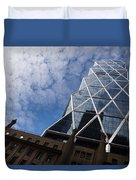 Lines Triangles And Cloud Puffs - Hearst Tower In New York City Duvet Cover