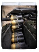 Linked 40mm Rounds Feed Into A Mark 19 Duvet Cover