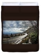 Linn Cove Viaduct During Winter Near Blowing Rock Nc Duvet Cover