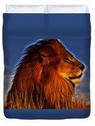 Lion - King Of Animals Duvet Cover