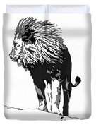 Lion 5x7 Card Duvet Cover