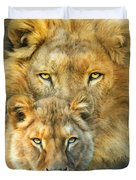 Lion And Lioness- African Royalty Duvet Cover