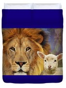 Lion And The Lamb Duvet Cover