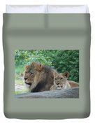 Lion Couple Duvet Cover