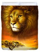Lion Dawn Duvet Cover by Adrian Chesterman