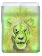 Lion Green Duvet Cover