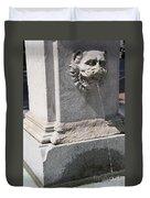 Lion Head Fountain Duvet Cover