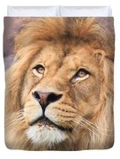 Lion In Deep Thought Duvet Cover