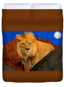 Lion In The Evening Duvet Cover