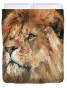 Lion King Duvet Cover by David Stribbling