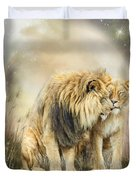 Lion Kiss Duvet Cover