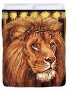 Lion Of Judah - Menorah Duvet Cover