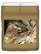 Lion On The Tree Of  Life Duvet Cover