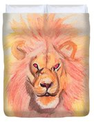 Lion Orange Duvet Cover