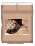 Lion Portrait Of The King Of Beasts Duvet Cover