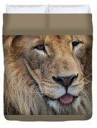 Lion Portrait Panting Duvet Cover