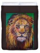 Lion Stare Duvet Cover