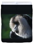 Lion Tailed Macaque Duvet Cover