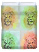 Lion X 4  Duvet Cover