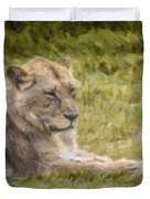 Lioness Resting Duvet Cover