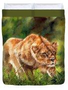 Lioness Stalking Duvet Cover