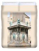 Lionfountain - Part Of The Obelisk - Arles Duvet Cover