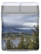 Lions Gate Bridge From Stanley Park Duvet Cover