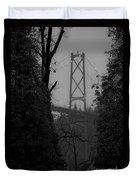 Lions Gate Bridge Duvet Cover by Nancy Harrison