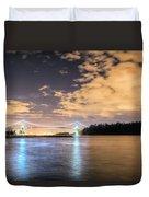 Lion's Gate Bridge Vancouver At Night Duvet Cover
