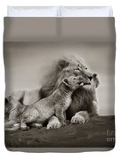 Lions In Freedom Duvet Cover