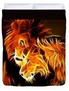 Lions In Love Duvet Cover by Pamela Johnson