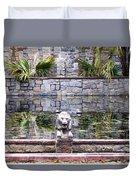 Lions In The Renaissance Court Fountain 2 Duvet Cover