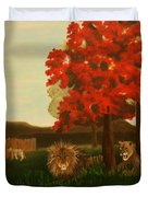 Lions In Wisconsin Duvet Cover