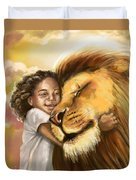 Lion's Kiss Duvet Cover by Tamer and Cindy Elsharouni