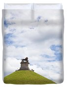 Lions Mound Memorial To The Battle Of Waterlooat Waterloo Belgium Europe Duvet Cover by Jon Boyes