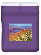 Lipan Point View On East Side Of South Rim Of Grand Canyon-arizona   Duvet Cover