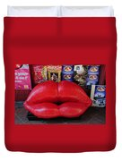 Lips Couch Duvet Cover