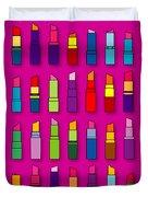 Lipsticks Pattern Duvet Cover