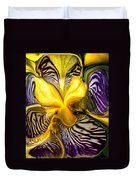 Liquified Orchid Duvet Cover