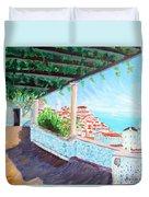 Lisbon Alfama With Atlantic Ocean Duvet Cover