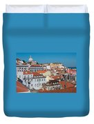 Lisbon Alfama District Duvet Cover