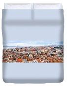 Lisbon Panoramic Skyline Duvet Cover