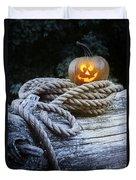 Lit Pumpkin Duvet Cover
