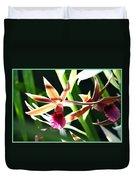 Lit Up Orchid Duvet Cover