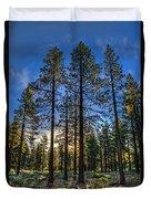 Lit Up Trees Duvet Cover