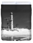 Litle Sable Light Station - Film Scan Duvet Cover