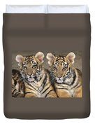 Little Angels Bengal Tigers Endangered Wildlife Rescue Duvet Cover